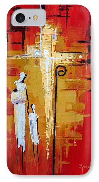 IPhone Case featuring the painting Redemption Path by Oyoroko Ken ochuko