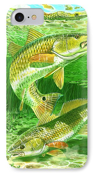 Redfish Haven In0018 Phone Case by Carey Chen