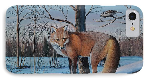 Redfox And Chickadee IPhone Case