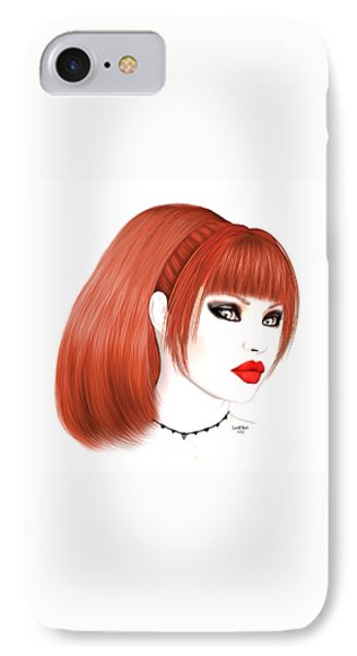 Redhead Cassia IPhone Case by Renate Janssen