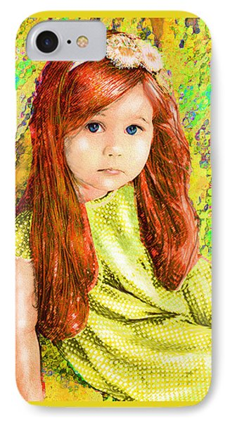 IPhone Case featuring the digital art Redhead by Jane Schnetlage