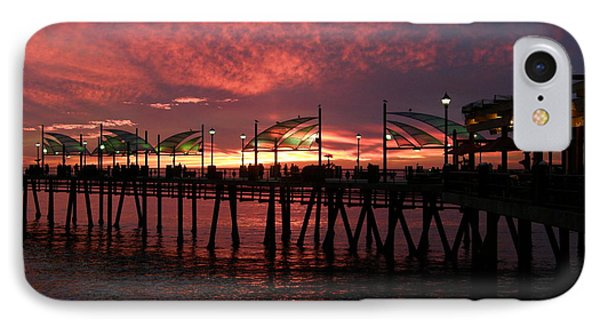 Redondo Beach Pier At Sunset IPhone Case by Bev Conover