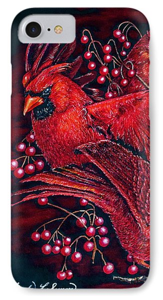 Reds IPhone Case by Linda Simon