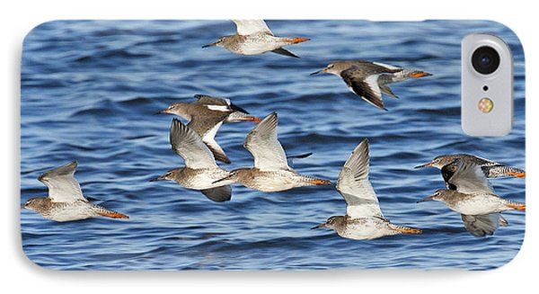 IPhone Case featuring the photograph Redshank On The Wing by Paul Scoullar