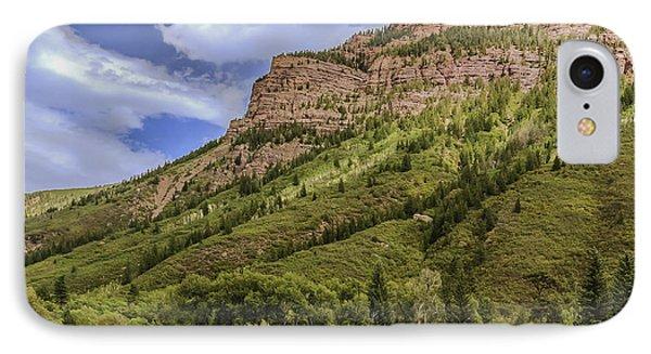 Redstone Cliffs At Redstone Colorado IPhone Case by Karen Stephenson