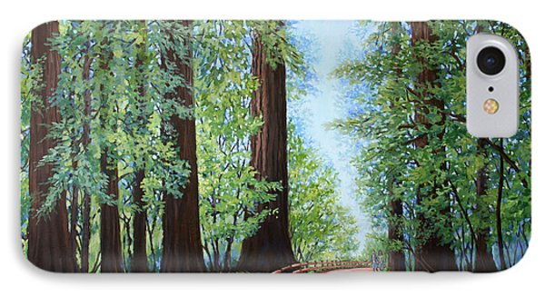 Redwood Forest Path IPhone Case by Penny Birch-Williams