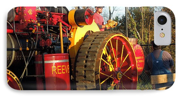 IPhone Case featuring the photograph Reeves Steam Tractor by Pete Trenholm