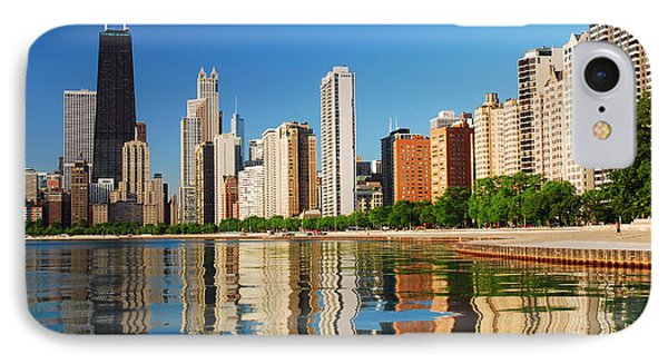Refelctions Of Chicago IPhone Case by James Kirkikis