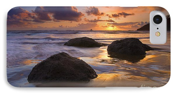 Reflected In The Sand IPhone Case by Mike  Dawson