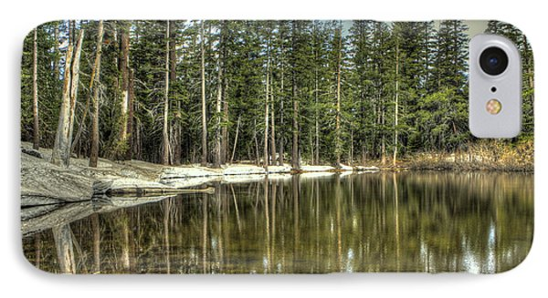 reflecting pond Carson Spur IPhone Case