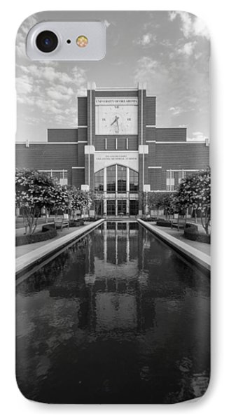 Reflecting Pond Outside Of Oklahoma Memorial Stadium IPhone Case by Nathan Hillis
