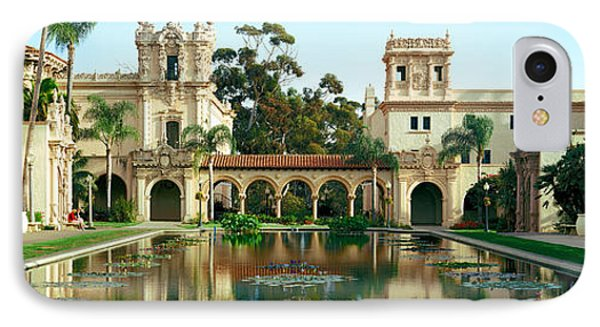 Reflecting Pool In Front Of A Building IPhone Case by Panoramic Images