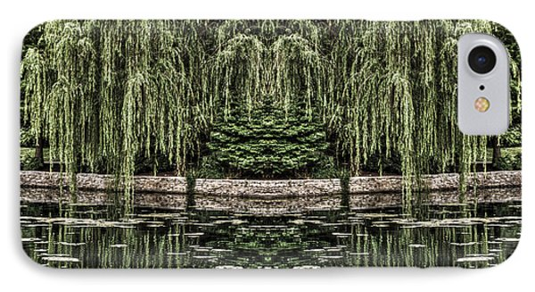 Reflecting Willows IPhone Case by Rebecca Hiatt