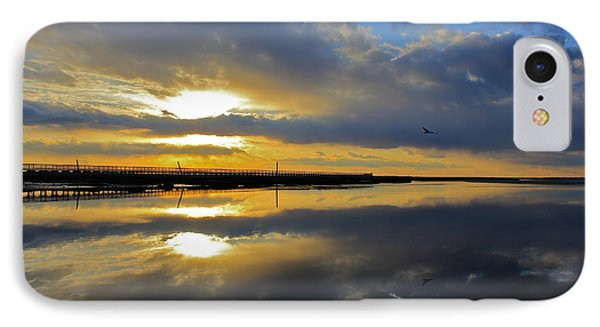 Reflection Grays Beach Boardwalk IPhone Case by Amazing Jules