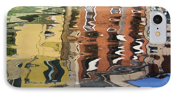 Reflection In A Venician Canal IPhone Case by Ron Harpham
