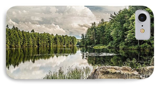 IPhone Case featuring the photograph Reflection Lake In New York by Debbie Green