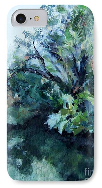 IPhone Case featuring the painting Reflection by Mary Lynne Powers
