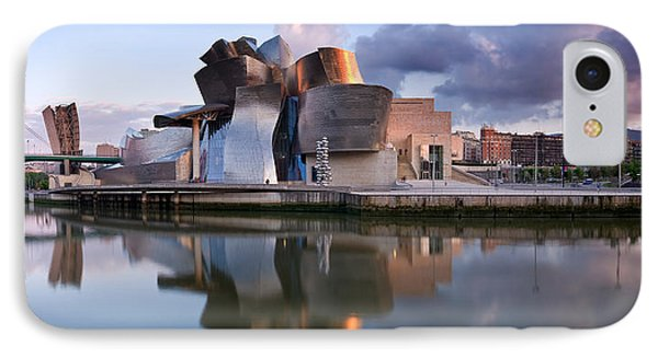 Reflection Of A Museum On Water IPhone Case