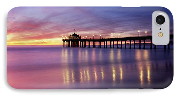 Reflection Of A Pier In Water IPhone Case by Panoramic Images
