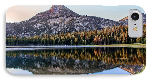 Reflection Of Gunsight Mountain IPhone Case by Robert Bales