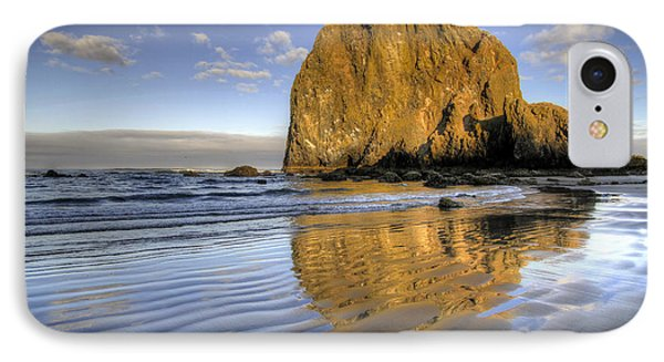 Reflection Of Haystack Rock At Cannon Beach 2 IPhone Case
