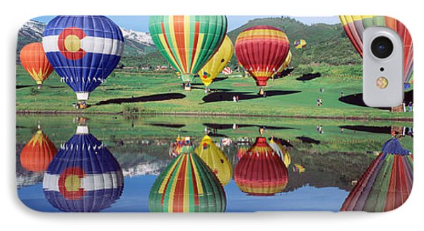 Reflection Of Hot Air Balloons On IPhone Case by Panoramic Images