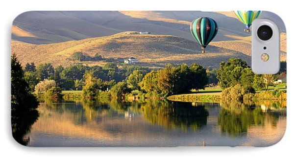 Reflection Of Prosser Hills Phone Case by Carol Groenen