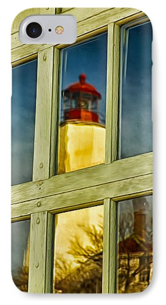Reflection Of Sandy Hook Lighthouse IPhone Case by Gary Slawsky