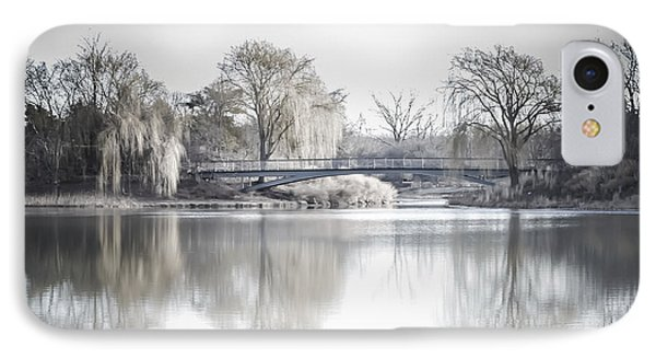 Reflection Over Lake Winter Scene IPhone Case by Julie Palencia