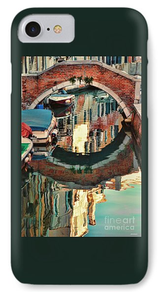 Reflection-venice Italy IPhone Case by Tom Prendergast