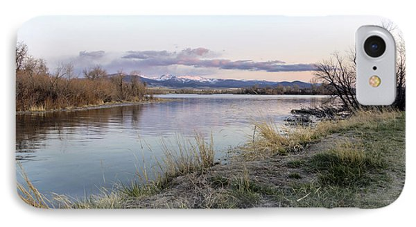 Reflections At Sunset At The Helena Reservoir Phone Case by Dana Moyer