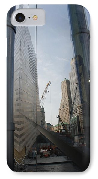 Reflections At The 9/11 Museum Phone Case by Rob Hans