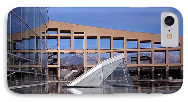 Mountain iPhone 7 Case - Reflections At The Library by Rona Black