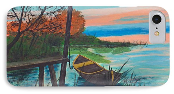 IPhone Case featuring the painting Reflections by Cynthia Morgan