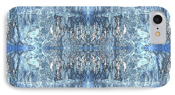 IPhone Case featuring the digital art Reflections In Blue by Stephanie Grant