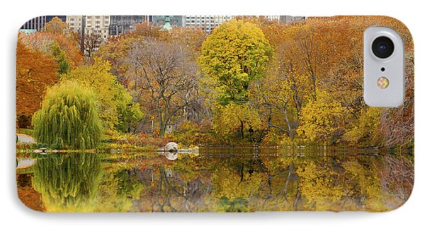 Reflections In Central Park New York City Phone Case by Sabine Jacobs