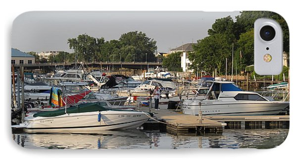 Reflections In The Small Boat Harbor Phone Case by Kay Novy
