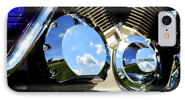 Reflections In The V Twin Phone Case by Patti Whitten