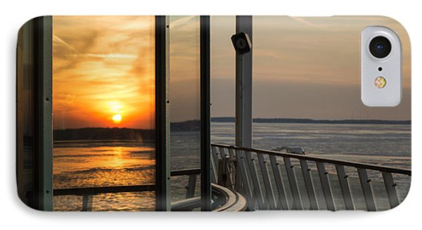 IPhone Case featuring the photograph Reflections Of A Chesapeake Sunset by Bill Swartwout