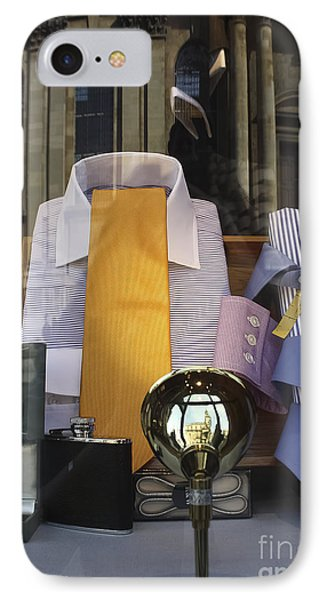 IPhone Case featuring the photograph Reflections Of A Gentleman's Tailor by Terri Waters