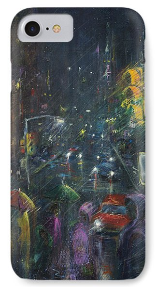 Reflections Of A Rainy Night IPhone Case by Leela Payne