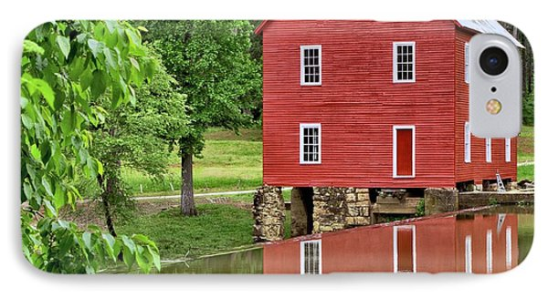 Reflections Of A Retired Grist Mill - Square IPhone Case