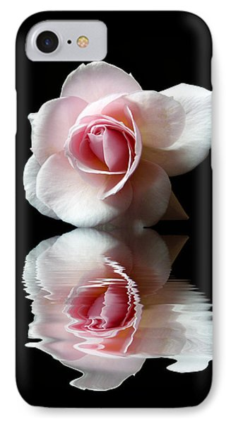 Reflections Of A Rose IPhone Case by Lynn Bolt