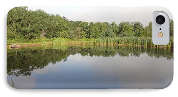 Reflections Of A Still Pond IPhone Case by Michael Porchik