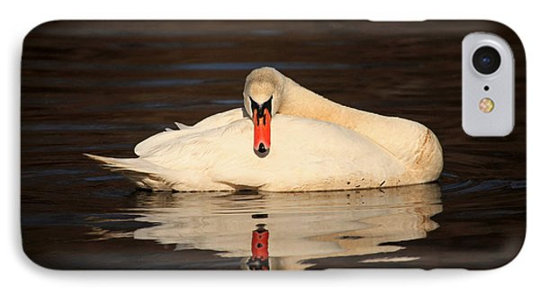 Reflections Of A Swan Phone Case by Karol Livote