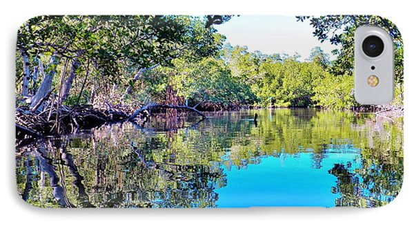 Reflections Of An Island IPhone Case by Judy Via-Wolff