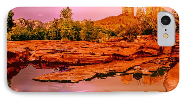 Reflections Of Cathedral Rock IPhone Case