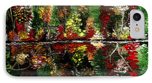 Reflections Of Fall Phone Case by Mark Moore