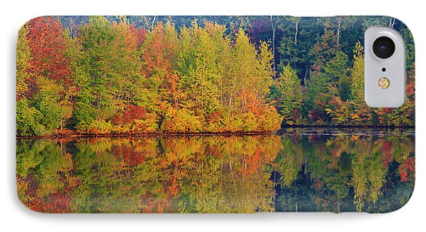 Reflections Of Fall IPhone Case by Roger Becker