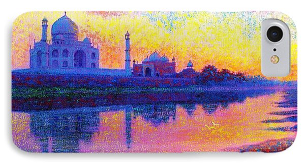 Taj Mahal, Reflections Of India IPhone Case by Jane Small